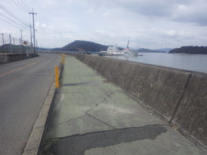 竹原港線 施工前