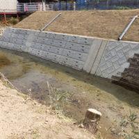 内川 砂防設備災害復旧工事完成1