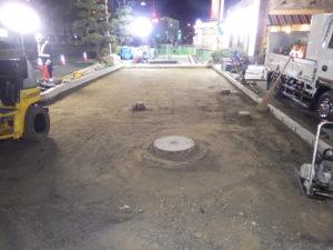 西条停車場線 作業状況1